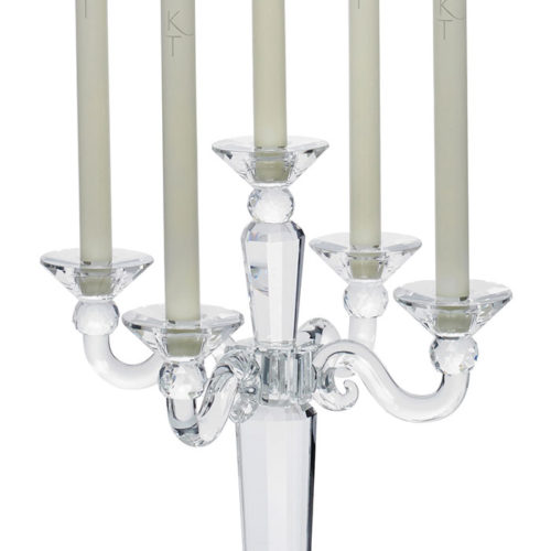Medium 5 Piece Crystal Candelabra-0