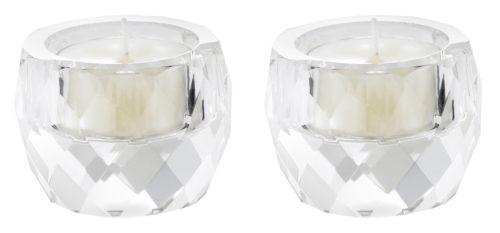 Crystal Tealight Holder - set of 2-0
