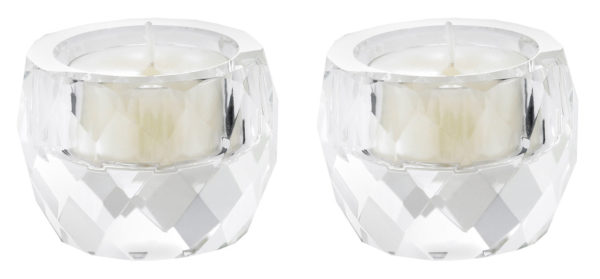 Crystal Tealight Holder - set of 2-0