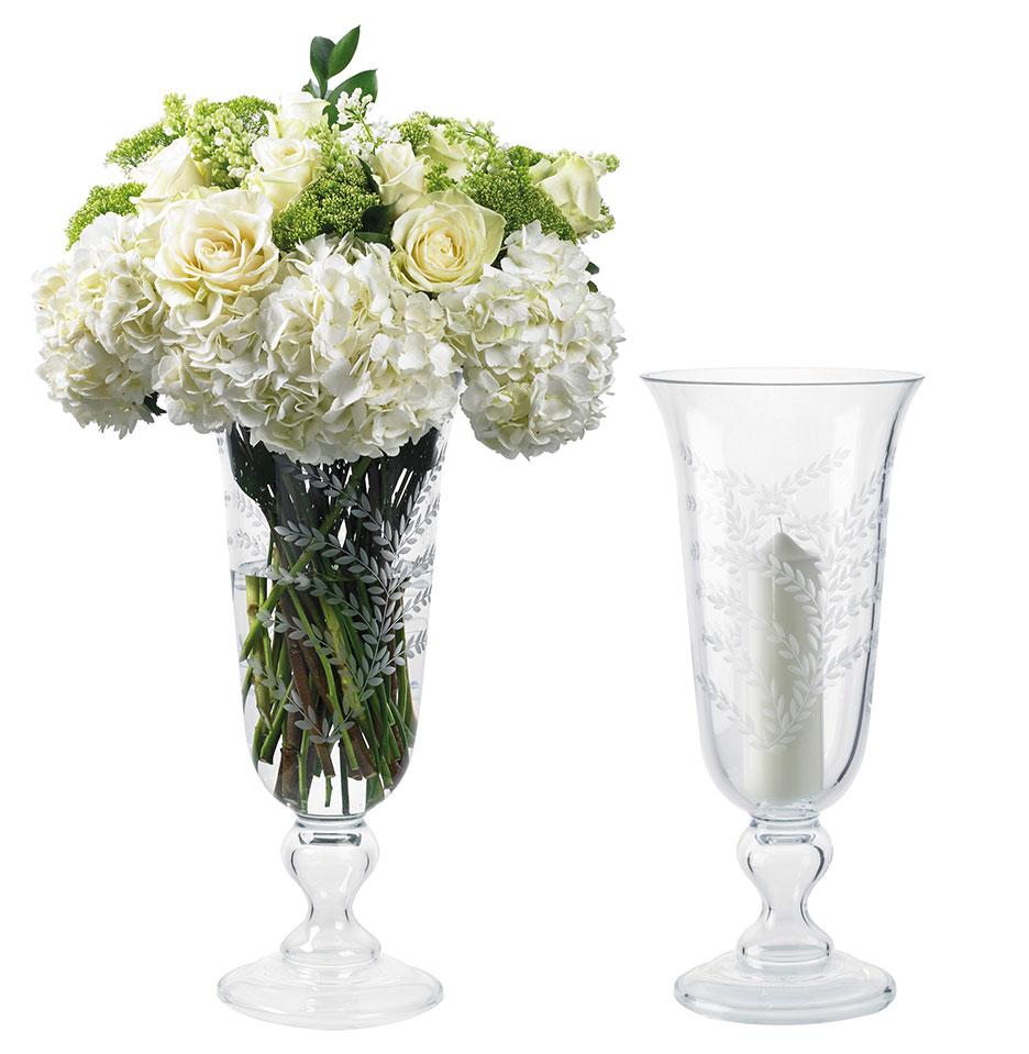 Etched Vase Hurricane Kenneth Turner