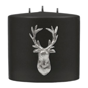 Stag Double Headed Candle - Black / Silver-0