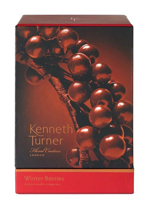 Winter Berries - Candle in Stem Vase -81