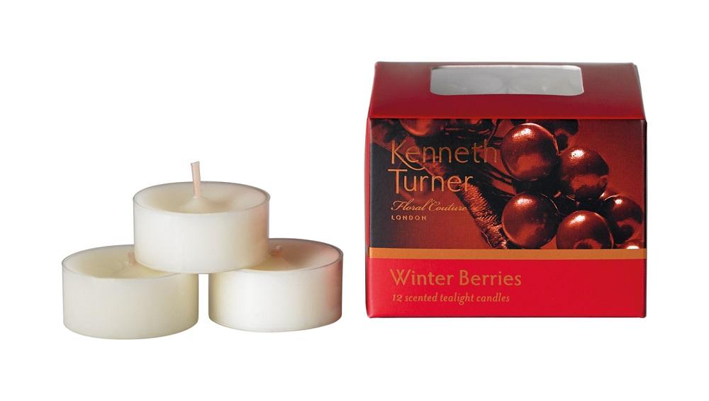 Winter Berries Box Of 12 Scented Tealights 0