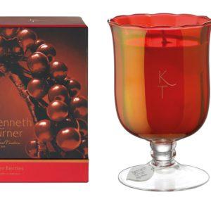 Winter Berries - Candle in Stem Vase -0