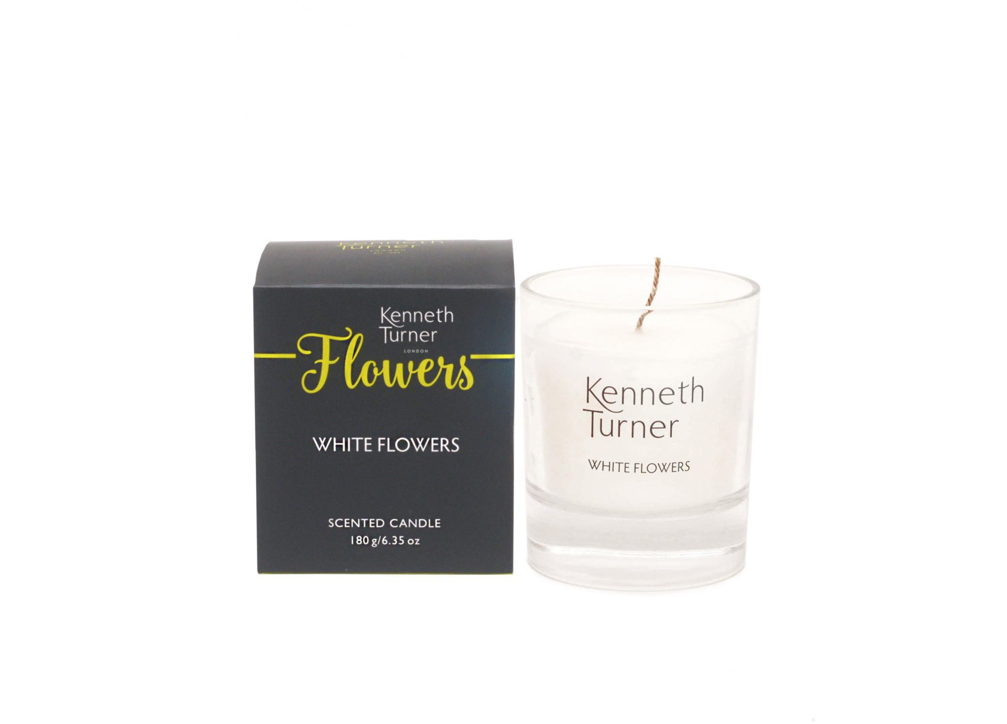 White Flowers Candle Kenneth Turner